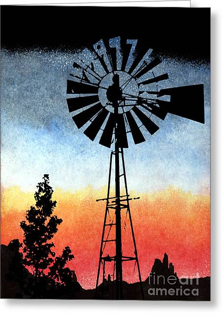 Pasture Scenes Mixed Media Greeting Cards - 1920 High Tech Greeting Card by R Kyllo