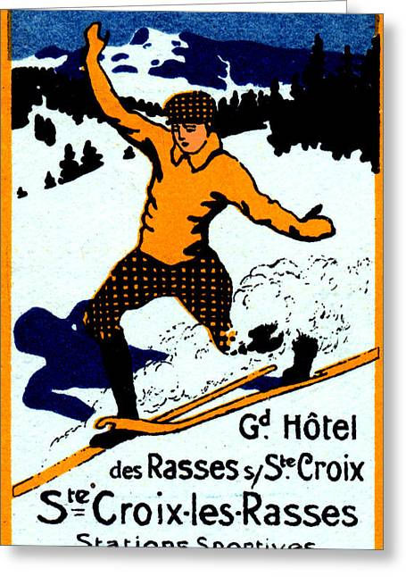 Skiing Art Posters Paintings Greeting Cards - 1920 St. Croix Winter Sports Greeting Card by Historic Image