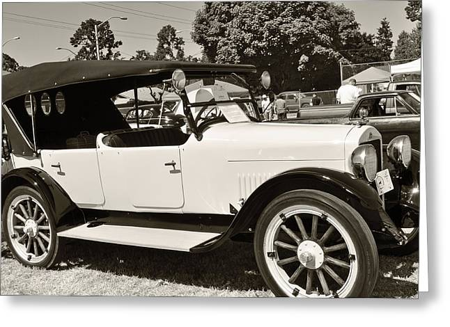 Pastimes Greeting Cards - 1920 White Studebaker Greeting Card by Roger Reeves  and Terrie Heslop