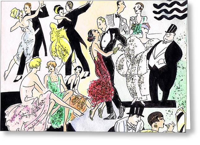 1920s Party Greeting Card by Mel Thompson