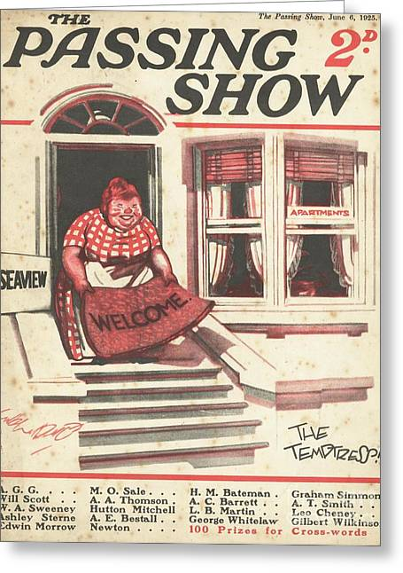 Landlady Greeting Cards - 1920s,uk,the Passing Show,magazine Cover Greeting Card by The Advertising Archives