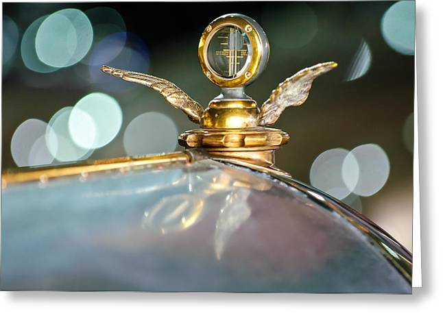 Collector Hood Ornament Greeting Cards - 1921 Bentley Motometer Hood Ornament -0471c Greeting Card by Jill Reger