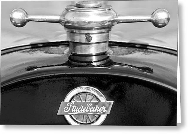 1922 Studebaker Touring Hood Ornament 3 Greeting Card by Jill Reger