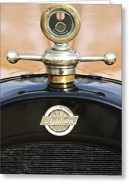 1922 Studebaker Touring Hood Ornament Greeting Card by Jill Reger