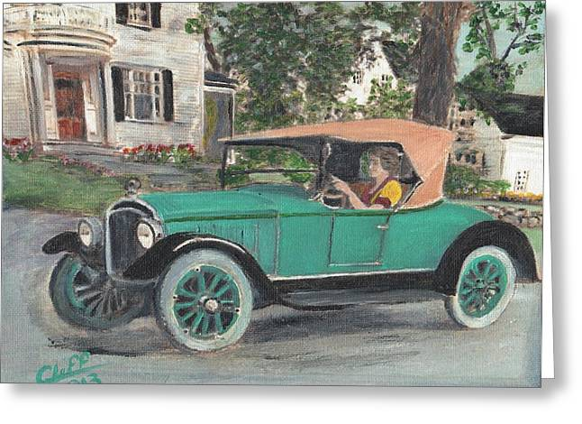Manufacturing Paintings Greeting Cards - 1923 Bay State Greeting Card by Cliff Wilson