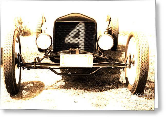 Ford Sprints Greeting Cards - 1923 Ford Frontenac Model T Racer Greeting Card by Steven  Digman