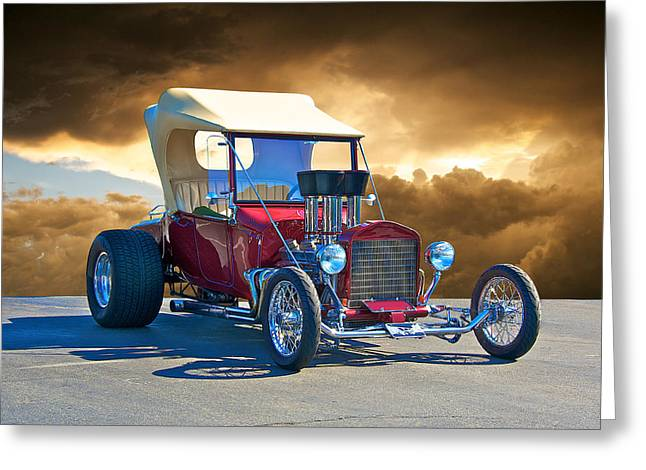 1923 Ford 'inject T' Roadster Greeting Card by Dave Koontz