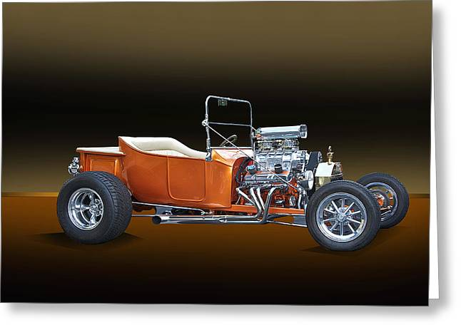 Ford Model T Car Greeting Cards - 1923 Ford Model T Roadster Greeting Card by Dave Koontz