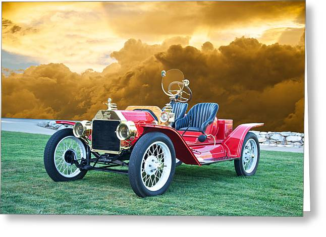 Ford Model T Car Greeting Cards - 1923 Ford Model T Speedster Greeting Card by Dave Koontz