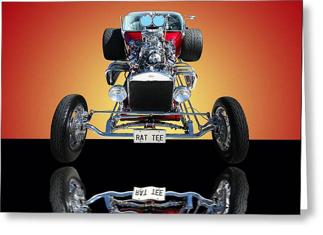 1923 Ford Rat Tee T Bucket Greeting Card by Jim Carrell