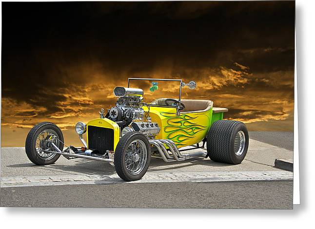 1923 Ford Roadster Pick Up 2 Greeting Card by Dave Koontz