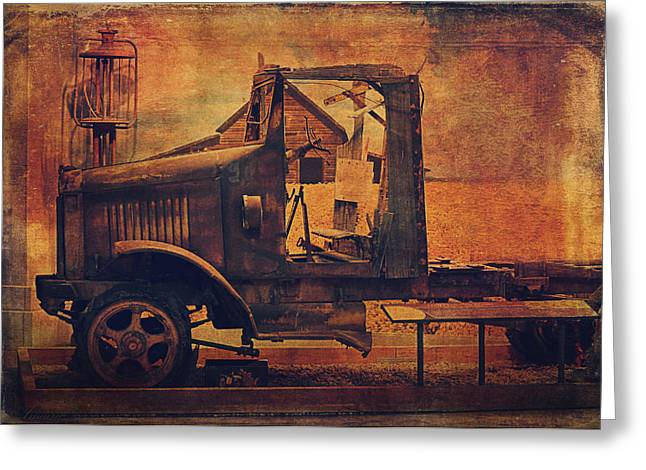 Rusted Cars Digital Greeting Cards - 1923 International Truck  Greeting Card by Maria Angelica Maira