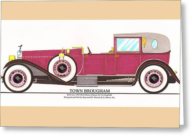 Co-founder Greeting Cards - 1923 Rolls Royce by Raymond H Dietrich Greeting Card by Jack Pumphrey