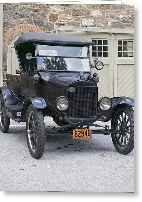 Ford Model T Car Greeting Cards - 1924 Ford Model T Pickup Truck Greeting Card by Lois Johnson