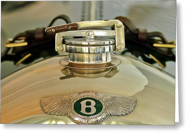 1925 Bentley 3-Liter 100mph Supersports Brooklands Two-Seater Radiator Cap Greeting Card by Jill Reger
