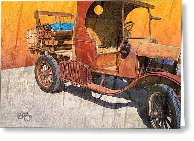Rusted Cars Greeting Cards - 1925 Ford Truck Greeting Card by Larry Bishop