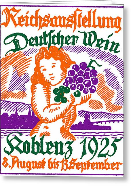 Viticulture Paintings Greeting Cards - 1925 German Wine Fair Greeting Card by Historic Image