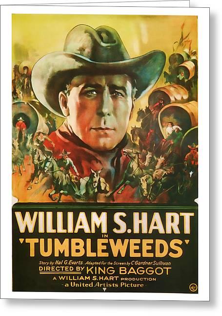 1925 Tumbleweeds Vintage Movie Art Greeting Card by Presented By American Classic Art