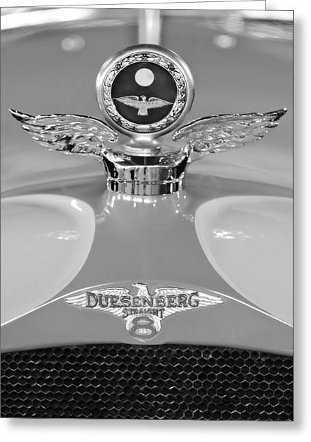 Car Part Greeting Cards - 1926 Duesenberg Model A Boyce MotoMeter 2 Greeting Card by Jill Reger