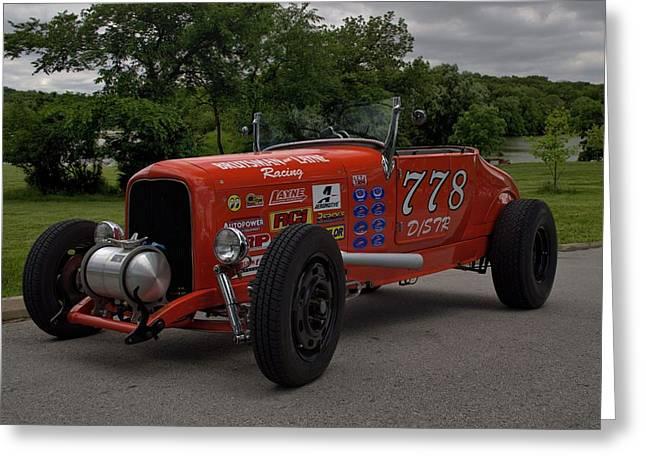 Salt Flats Racer Greeting Cards - 1926 Ford Hi Boy Bonneville Salt Flats Racer Greeting Card by Tim McCullough