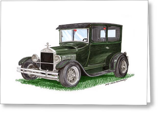 Best Sellers -  - Ford Model T Car Greeting Cards - 1926 Ford Tudor Sedan Street Rod Greeting Card by Jack Pumphrey