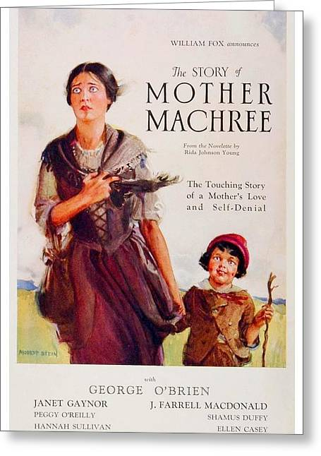 Gaynor Digital Art Greeting Cards - 1926 - Mother Machree Motion Picture Advertisement - John Ford - Color Greeting Card by John Madison
