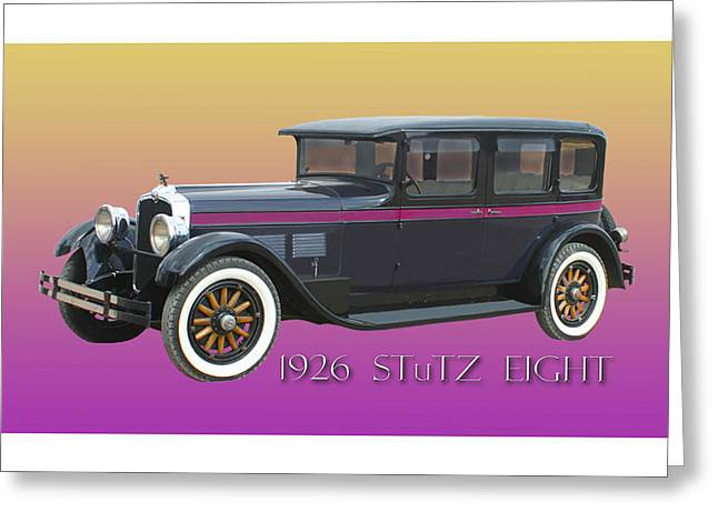 Wheel Framed Prints Greeting Cards - 1926 STuTZ EIGHT Sedan Greeting Card by Jack Pumphrey