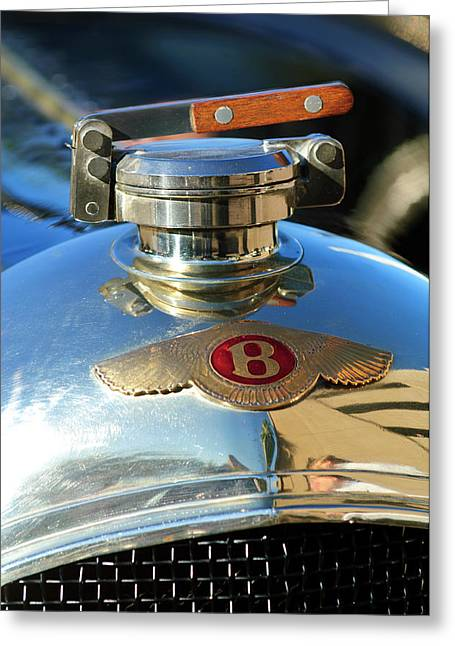 Car Mascot Greeting Cards - 1927 Bentley Hood Ornament Greeting Card by Jill Reger