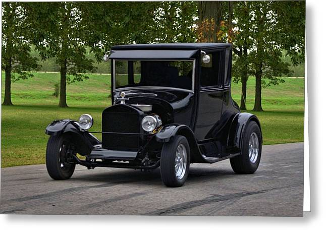 High Top Greeting Cards - 1927 Ford Model T High Top Hot Rod Greeting Card by Tim McCullough