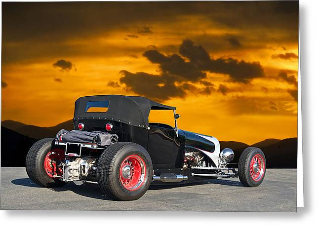 1927 Ford 't 4 2' Greeting Card by Dave Koontz