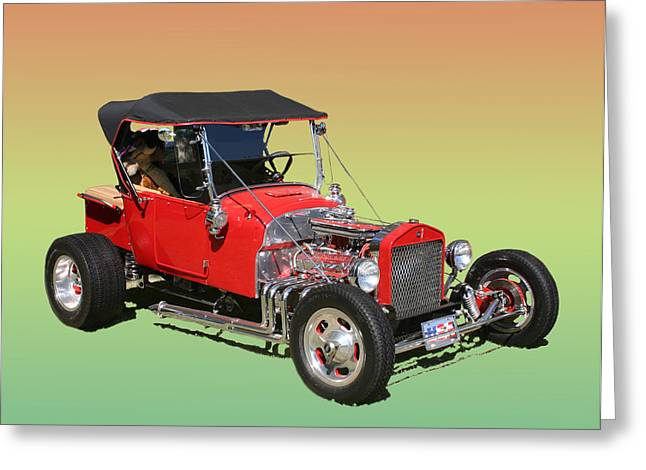 Hot Rod Photography Greeting Cards - 1927 Ford T Bucket RAG TOP T BUCKET Greeting Card by Jack Pumphrey