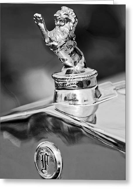 Vintage Hood Ornament Greeting Cards - 1927 Franklin Sedan Hood Ornament 2 Greeting Card by Jill Reger