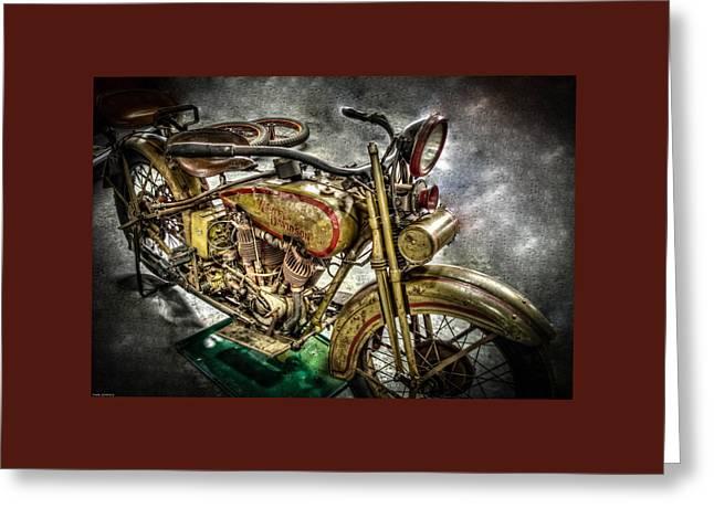 Photo Art Gallery Greeting Cards - 1927 Harley Davidson Greeting Card by Thom Zehrfeld