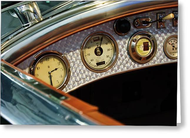 Gauge Greeting Cards - 1927 Rolls-Royce Phantom I Tourer Dashboard Gauges Greeting Card by Jill Reger