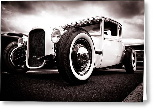 D700 Photographs Greeting Cards - 1928 A Coupe Greeting Card by Phil