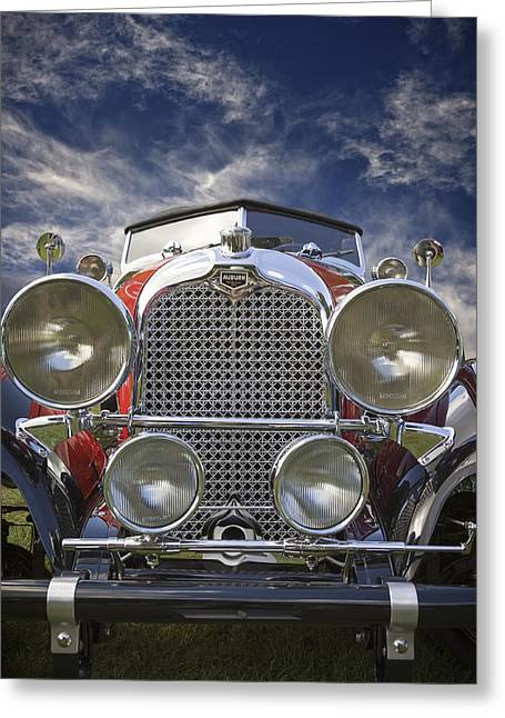 Jack R Perry Greeting Cards - 1928 Auburn Model 8-88 Speedster Greeting Card by Jack R Perry