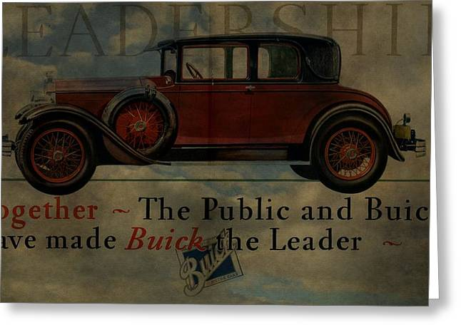 Mechanics Mixed Media Greeting Cards - 1928 Buick Advertisement Greeting Card by Dan Sproul