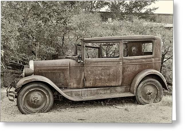 1928 Chevy Greeting Card by Robert Jensen