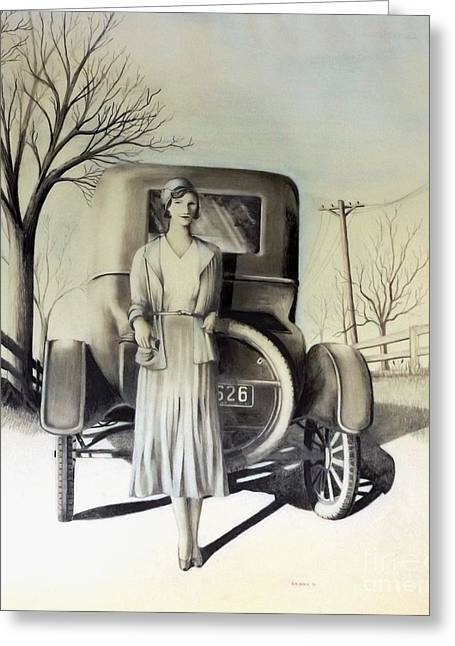 Ford Model T Car Greeting Cards - 1928 Greeting Card by David Neace