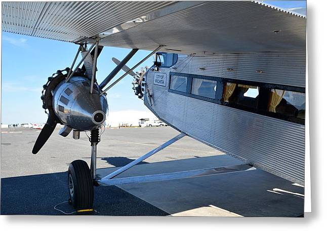 Ford Trimotor Greeting Cards - 1928 Ford 5-AT-B Tri-Motor Greeting Card by Matt Abrams