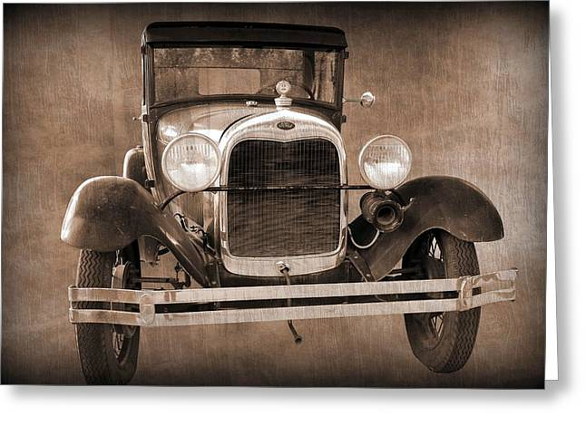 Betty Northcutt Greeting Cards - 1928 Ford Model A Coupe Greeting Card by Betty Northcutt