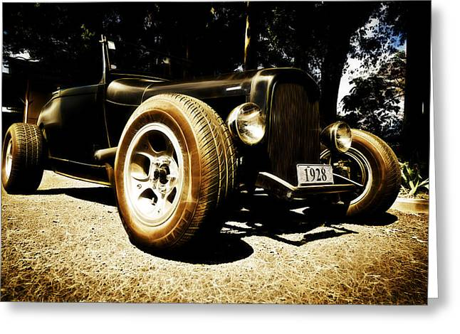 D700 Greeting Cards - 1928 Ford Model A Rod Greeting Card by Phil
