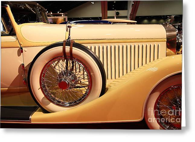 Suiza Greeting Cards - 1928 Hispano Suiza H6C Transformable Torpedo by Hibbard and Darrin 5D26717 Greeting Card by Wingsdomain Art and Photography
