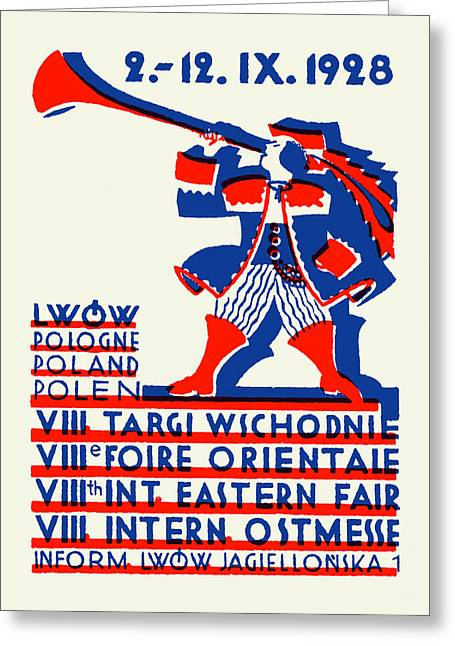 Polish Culture Greeting Cards - 1928 Lwow Eastern International Fair Greeting Card by Historic Image