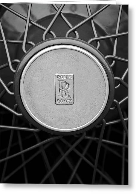 Spokes Greeting Cards - 1928 Rolls-Royce Spoke Wheel Greeting Card by Jill Reger