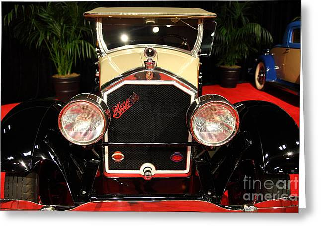 Stearns Greeting Cards - 1928 Stearns Knight F-6 roadster 5D26804 Greeting Card by Wingsdomain Art and Photography