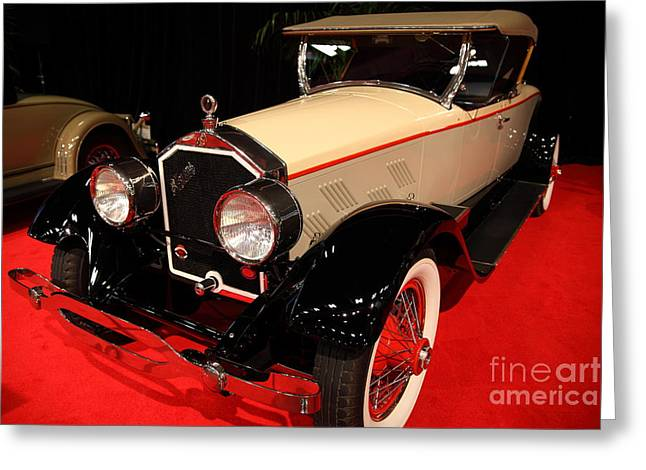 Stearns Greeting Cards - 1928 Stearns Knight F-6 roadster 5D26807 Greeting Card by Wingsdomain Art and Photography