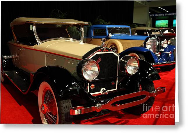 Stearns Greeting Cards - 1928 Stearns Knight F-6 roadster 5D26810 Greeting Card by Wingsdomain Art and Photography