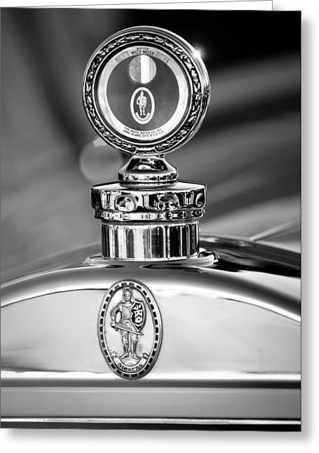 Best Images Photographs Greeting Cards - 1928 Sterns-Knight Roadster -0895bw Greeting Card by Jill Reger