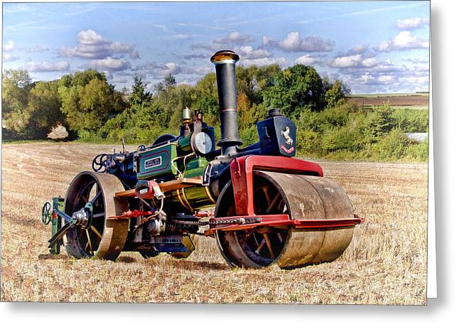 Rally Greeting Cards - 1929 Aveling Roller  Greeting Card by Paul Gulliver